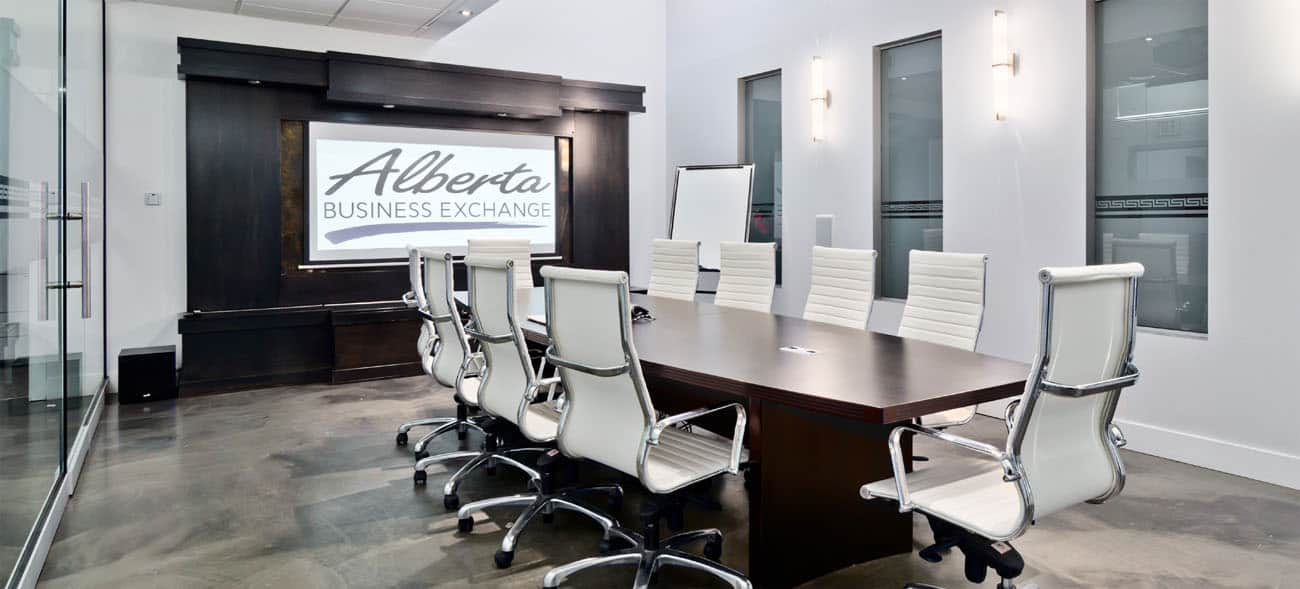 Alberta Business Exchange boardroom 2