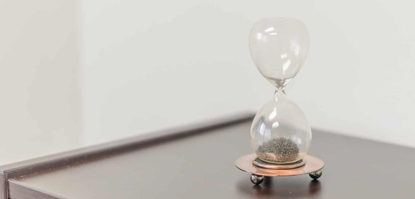 Hourglass showing that time is running out to sell your business