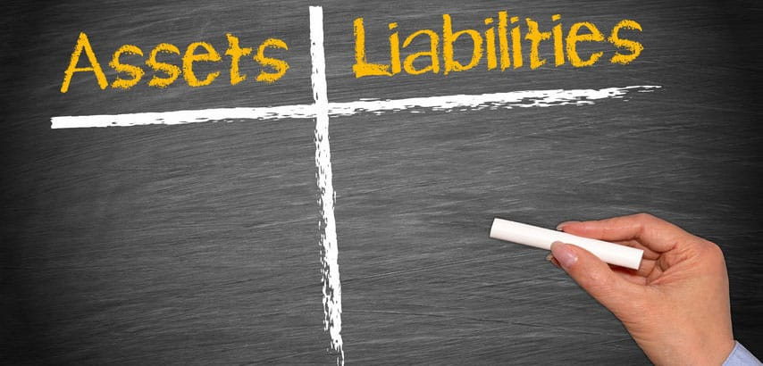 Which assets and liabilities are included in a business sale