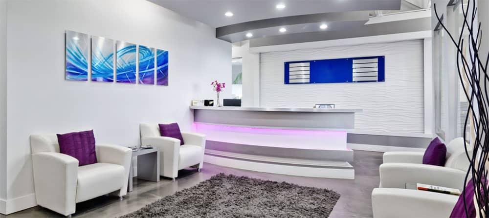 alberta business exchange reception area